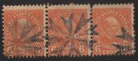 1927 US, 6c stamp, Used, James Garfield, Sc 638, Fancy canctel, Stripe