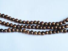Freshwater pearl brown potato beads 6x8mm