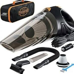ThisWorx Car Vacuum Cleaner - Portable, High Power, Handheld Vacuums w/16 ft Crd