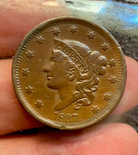 Us Large Cent 1837 Nice Grade