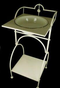 Waschschüssel mit Ständer Antik-Nostalgie-Stil Landhaus Stil Waschtisch