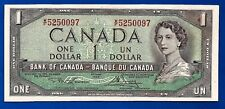 CANADA 1954 Canadian one 1 DOLLAR BILL NOTE prefix W/F crisp AU-UNC