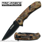 New In Box TAC-FORCE TF-764CA LinerLock Stainless Assisted Opening Camo Folder