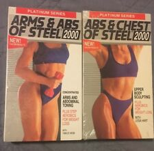 2 VHS tapes: Abs & Chest of Steel 2000 (1994) Arm & Abs of Steel 2000 (1993)