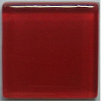 Glass Mosaic Tiles - Red - 3/8 inch - 50 Tiles - Craft & Art Supplies