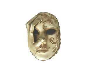 Face Mask With Embroidery design with hand attached to Face Wall Hanging
