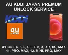 KDDI, AU Japan Premium Unlock Service, fits iPhone X, XR, XS, 11, 12, Pro, Max