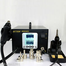 1PCSDual LCD 2 IN 1 ATTEN AT-8502D 900W Pro Hot Air Rework + Iron Soldering 220V