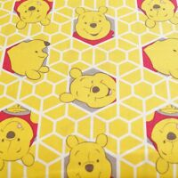 Disney Winnie The Pooh Honeycomb 100% Cotton Fabric