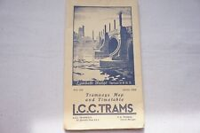More details for nov 1932 lcc trams map & guide timetable underground 1968 reprint