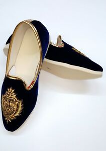 Indian Men's Shoes Groom Mojari Khussa Loafers Pointy Toe