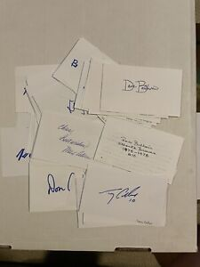 MLB Baseball Lot of (50) Signed Index Cards - Autographed Auto