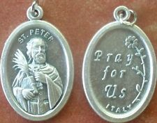 Saint St. Peter Medal + Appointed by Jesus to be first Pope + Fisher of men + Z