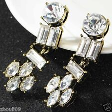 long Ear Studs earrings Hot e559 Newest Design Lady Statement clear crystal