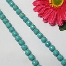 2 Fil Turquoise Vert 10mm Ronde Perles