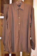 Hugo Boss Men's L/S Dress Shirt L/S Brown Size 15 3/4  40 Pre-owned Very Good