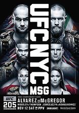 CONOR McGREGOR v EDDIE ALVAREZ UFC 205 NEW YORK PROMO POSTER