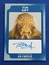 2016 Star Wars Rogue One Mission Briefing Blue Auto - Tim Dry as J'Quille #8/25