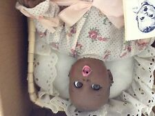 "GERBER 12""  BABY DOLL VINYLE  & CLOTH PLAY SET  AFRICAN AMERICAN"