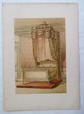 ANCIENNE CHROMO 1880 / TENTURE DE LIT / STYLE LOUIS XVI / PL14
