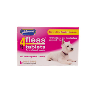 JOHNSONS 4fleas Tablets Small Dogs and Puppies up to 11 kg 6 Pack - Treatment