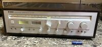 Yamaha CR-640 Vintage Natural Sound Stereo Receiver Tested Working Used