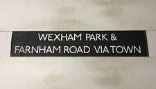 """Slough Bus Blind 258 (31"""") Wexham Park & Farnham Road Via Town"""