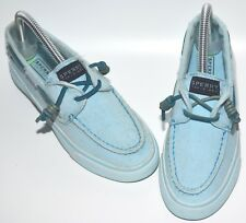 67b87e3c0b3d2 SPERRY TOP SIDER BABY BLUE DENIM WASHED OUT LOAFERS BOAT SHOES UK 4 EURO 37  NEW
