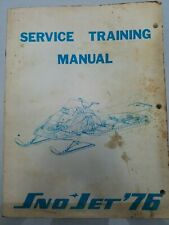 1976 SNO JET SERVICE TRAINING MANUAL Kawasaki Part No. 209361