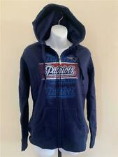 New New England Patriots Womens Size M Blue Full Zip Hoodie