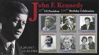Union Island Gren St Vincent 2017 MNH JFK John F Kennedy 100th 6v M/S III Stamps