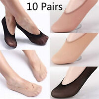 10Pair Womens Loafer Invisible No Show Nonslip Liner Low Cut Cotton Boat Sock Bb
