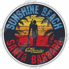 Sunshine Beach Santa Barbara California Bumper Window Vinyl Sticker Decal 4.6""