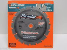 "Black&Decker Piranha 7 1/4"" Industrial Carbide tipped 18T Circular Saw Blade;NEW"