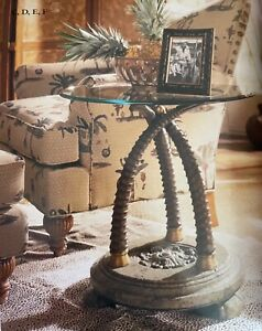 Thomasville Furniture Ernest Hemingway Masai Chairside Table Collector's Item!