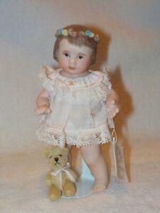 "4.5"" An All Bisque Original Doll By Artist Maree Massey 1991"