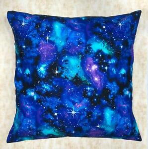 """Universe Galaxy Space Planets Designer Cushion Cover Case fits 18""""x18"""" Cotton"""