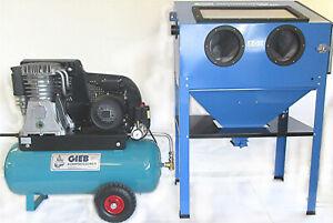 Sandstrahlset inkl. GIEB 5,5kw Kompressor und Strahlkabine
