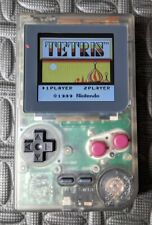 GameBoy Pocket Backlit IPS LCD Upgrade Clear Gray Shell GBP MGB-001