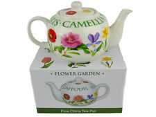 Flower Garden Range Fine China Tea Pot by The Leonardo Collection Gift Boxed Pre