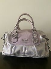Coach Ashley Satchel Purple berry convertible handbag shoulder bag