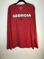 The Nike Tee Mens Size M Georgia Long Sleeve Red VGUC Active