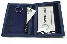 Sprocket Nylon ID Holder Front Pocket Wallet with Key Ring -Dual IDs - Blue