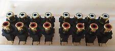 Audiolab 8000A / 8000P etc. quad 14mm RCA connector block - NEW x4 pcs