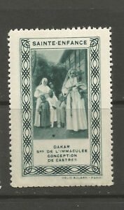 France/Sainte Enfance poster stamp/label (Dakar)