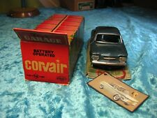 Kosuge Chevrolet Covair Blech Batterie Japan OKT 1959 Tin Car Tole Auto Latta