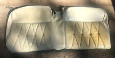 1964 Cadillac Convertible Rear Seat Covers - White