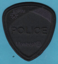 MONTREAL CANADA  POLICE SWAT SHOULDER PATCH   (BLACK  / BLACK)