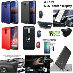 "For NOKIA 3V Case (6.26"") Verizon Prepaid / Nokia 3.2 Case Brush Textured Cover"