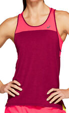 Asics Loose Strappy Womens Running Vest Tank Top - Pink